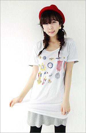 百变个性T恤 配裙配裤都甜美