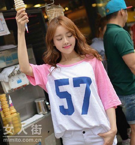 精致可爱韩国T恤 搭出各种美感